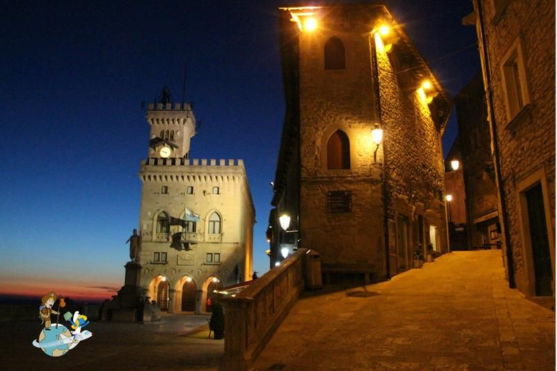 San Marino in the night