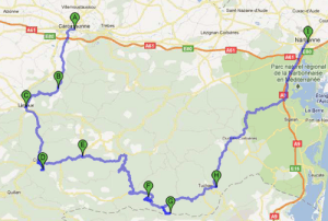 how to get from limoux to peyrepertuse